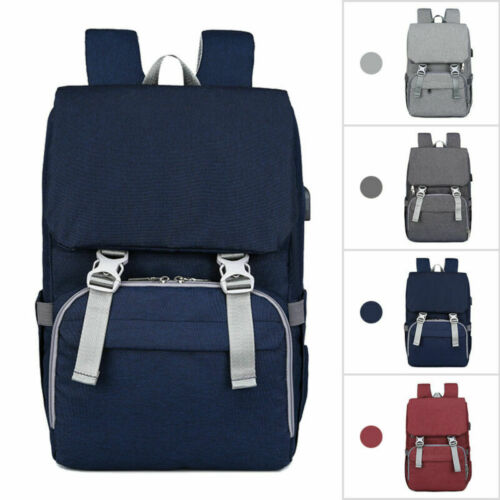 Mummy Baby Changing Bag Nappy Diaper Maternity Messenger Backpack Tote USB port