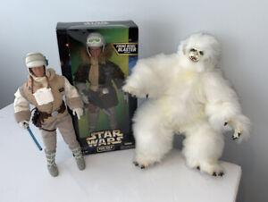 NEW-1997-Kenner-Star-Wars-12-034-Han-Solo-amp-Luke-Skywalker-in-Hoth-Gear-WAMPA