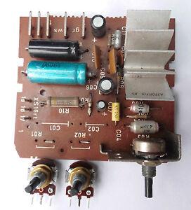 10-Watt-NF-Verstaerker-auf-Platine-mit-Lautstaerke-und-Tiefenregler-Amplifier