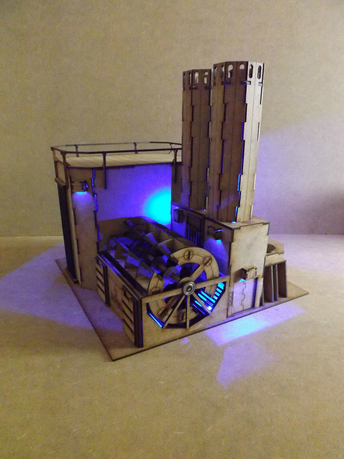 Hydro carbon Power Plant LED warhammer 40k infinity building terrain scenary