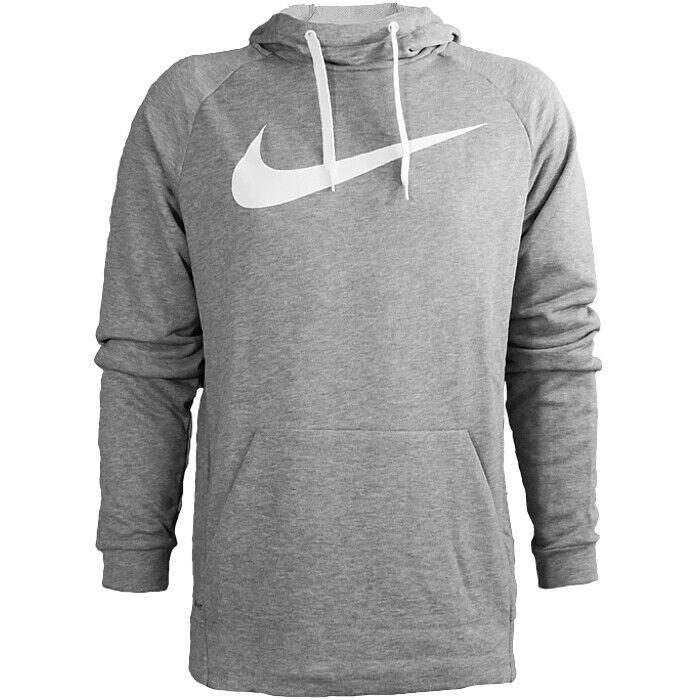 Nike Dri-Fit Training Hoodie grau weiß Herren Kapuzenpullover Trainingstop NEU