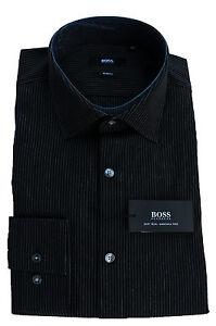 neu gr 40 41 42 43 hugo boss hemd jenno black slim fit. Black Bedroom Furniture Sets. Home Design Ideas