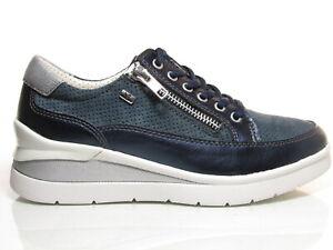 Valleverde-17150-scarpe-donna-sneakers-sportive-zeppa-media-camoscio-pelle-blu