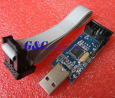 2pcs USB ISP USBASP Programmer for ATMEL,51 AVR Programmer M80