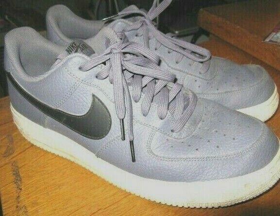 Nike Air Force 1 Low Cut Grey W Black Check White Soles Sz 12 Sneakers