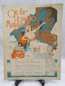 Vintage Sheet Music ON THE ROAD TO MANDALAY 1930s Kipling Oley Speaks