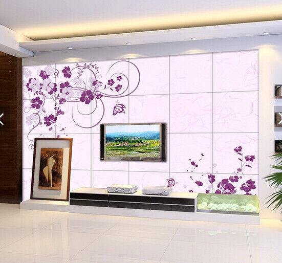 3D lila Flower 979 Wallpaper Mural Paper Wall Print Wallpaper Murals UK Carly