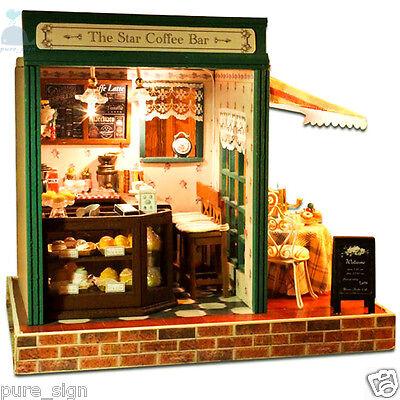 Attento Progetto Fai Da Te Handcraft In Miniatura Kit La Stella Del Bar Musica Casa Di Bambole In Legno-