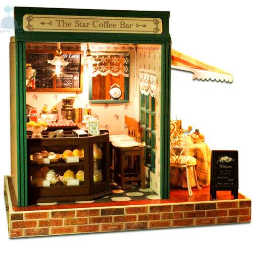 Diy artisanat miniature projet kit de la star café bar musique en bois maison de poupées