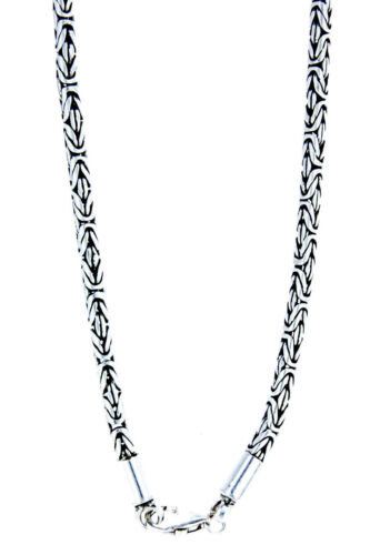 edle runde Königskette 925 Sterlingsilber Massiv 2,5+3,5+5+6 mm 45-65cm Silber