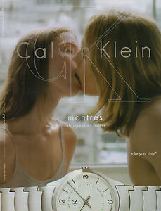 Publicité Advertising 2002  Montre  CALVIN KLEIN  CK