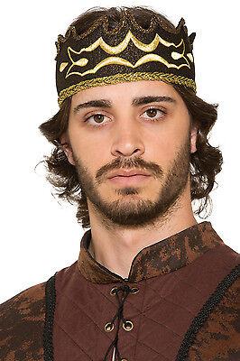 Vendita Professionale Black & Gold Kings Crown Medievale Costume Gioco Di Thrones Costume Accessorio-mostra Il Titolo Originale