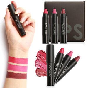 FOCALLURE-3X-Set-Make-up-Pen-Matt-Lippenstift-Wasserdicht-Velvet-Lip-Gloss-NEU