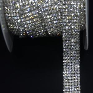 1m Rhinestone Chain Sew On Crystal Diamante Trim Sparkle Cake Ribbon ... 9d50fdde2