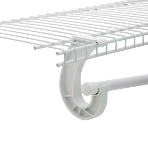 "SuperSlide 5 ft  8 ft 13/""D x 96/""W x 96/""H Metal White Steel Closet Organizer Kit"