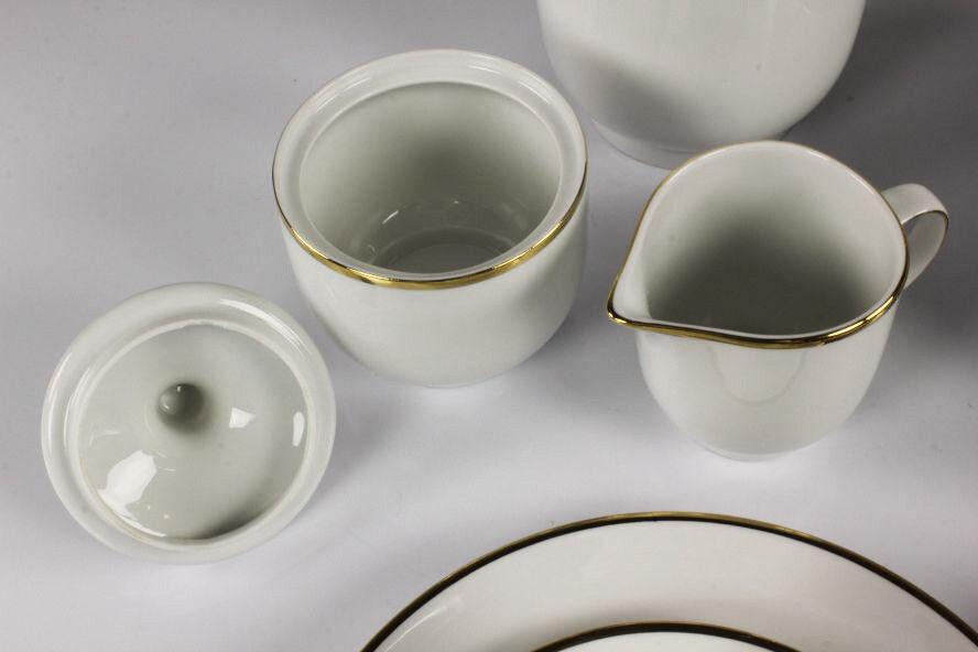 Hutschenreuther Kaffee Service Symphonie Gold Rand Dekor Porzellan Porzellan Porzellan 6 Personen aa8c3d