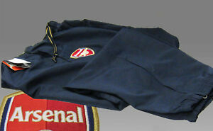 NIKE-ARSENAL-Football-Track-Tracksuit-Trouser-Bottoms-Navy-Blue-Yellow-Trim-XL