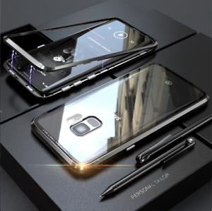 Hülle Samsung Galaxy S8 S9 Plus 360 Magnet Glas Case Handy Tasche