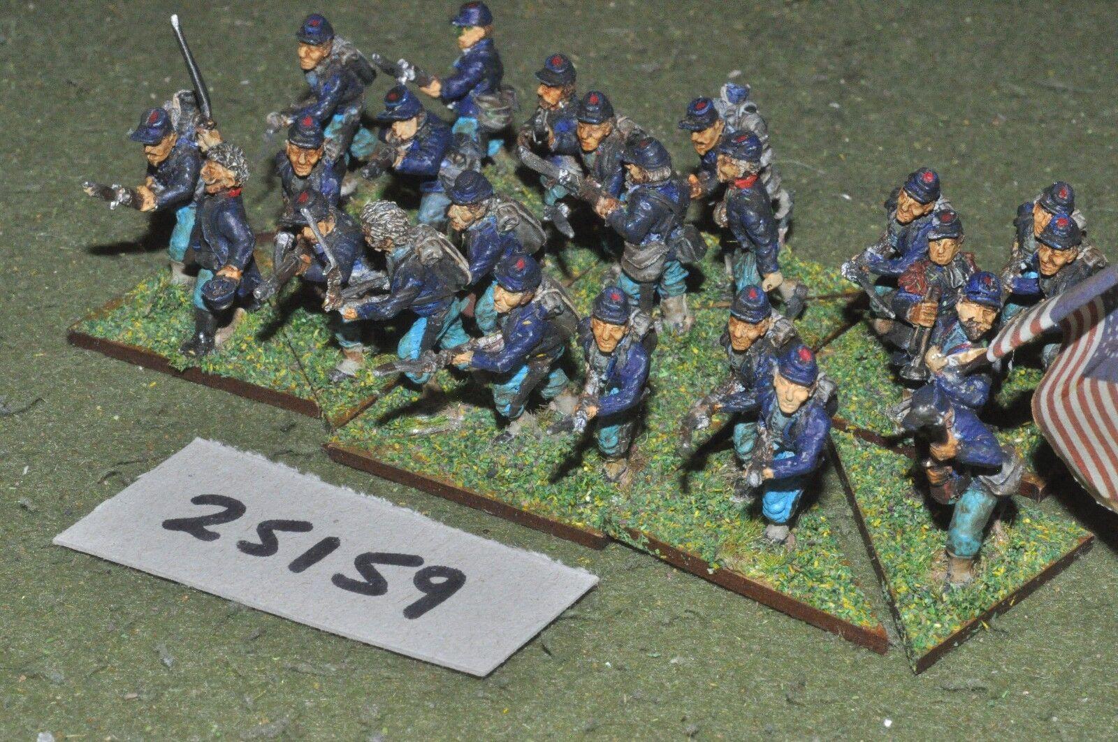 25mm ACW   union - battalion 24 figures - inf (25159)