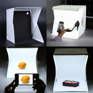 Image is loading Photo-Photography-Studio-Lighting-Portable-Soft-LED-Light- & Photo Photography Studio Lighting Portable Soft LED Light Tent Kit ...