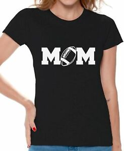 efc3a56f Football Mom WOMEN T-SHIRT Best Mom Graphic Tee Mothers Day Gift ...