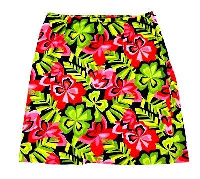 Skirts Talbots Womens 8 Skirt Hawaiian Floral Tropical Vacation Casual Medium Colorful