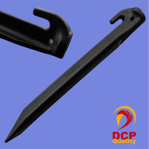 20 carpa arenque negro 30 cm kunststoffhering carpa clavo pinchos carpa clavos