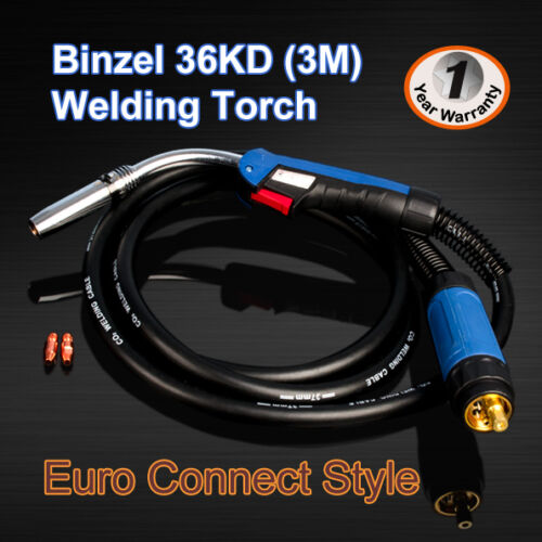 1SET MIG //MAG CO2 welding torch Euro connector and socket Connector Binzel style