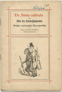 Old-Satire-Book-about-the-culture-chimpanzees-as-manuscript-Printed-1909-3823