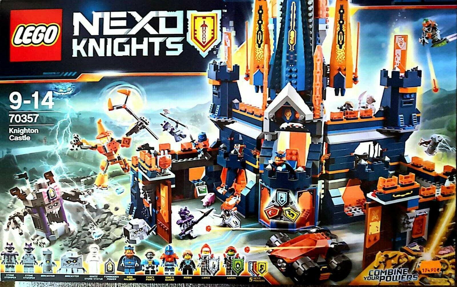 LEGO NEXO KNIGHTS Castello di Knighton Knighton Knighton 70357 IMBALLATO FUORI PRODUZIONE  connotación de lujo discreta