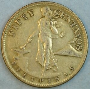 US-PHILIPPINES-FIFTY-CENTS-1945-S-Filipinas-UNITED-STATES-OF-AMERICA-36153