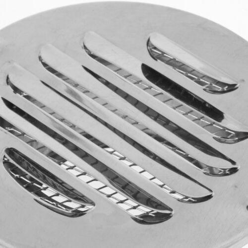 2 Pcs Lüftungsgitter aus rostfreiem Stahl für 75 mm 2,95Zoll Lochgröße
