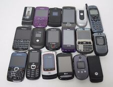 Lot of 18 Cell Phones For Parts Smartphones Flip Phones Blackberry Samsung P18