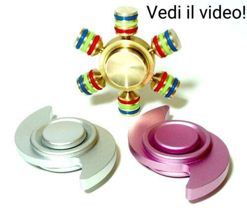 FIDGET DITO MANO SPINNER TROTTOLA CUSCINETTO ALLEVIA ANTI STRESS GIOCO 3D GILP65