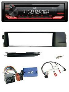 JVC-Lenkrad-Bluetooth-USB-MP3-CD-Autoradio-fuer-BMW-3er-E46-98-07-Profi-Rundpin