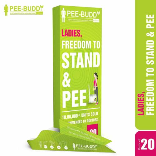 20 Funnels Peebuddy Paper Based Disposable Female Urination Device for Women
