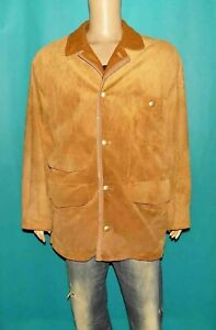 veste BURBERRYS vintage in the field peccary skin cuir camel marron taille 54 EU