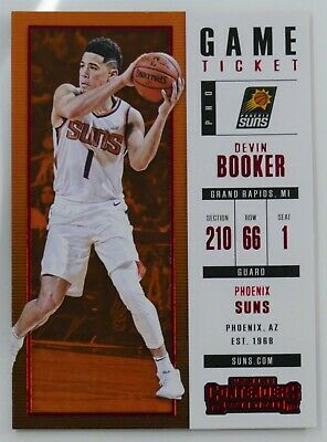 2017-18 Panini Contenders Season Ticket #96 Devin Booker Phoenix Suns Basketball Card