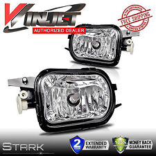 01-07 Benz W203 C-Class Fog Lights OE Style Clear Lens Front Lamps PAIR