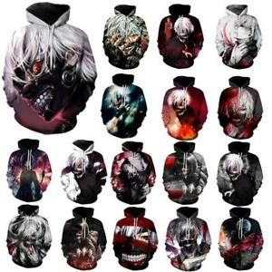 Merchandising & Fanartikel Tokyo Ghoul Cosplay 3d Anime Kapuzen Sweatshirt Langarm T-shirt Hoodie Pullover