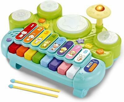Drum Learning Educational Toy for Baby /& Toddler fisca Baby Musical Drum Toys
