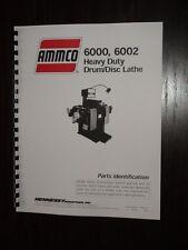 Ammco 6000 Amp 6002 Brake Lathe Parts Manual