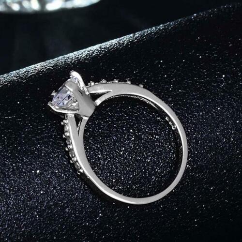 Cubic Zirconia Stylish Shiny For Women Jewelry Fashion Elegant Ring Gift T