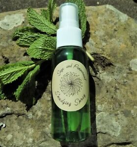 Details about Peppermint & White Sage Smudging Spray 30ml Smudge Room  Cleansing Smoke Free