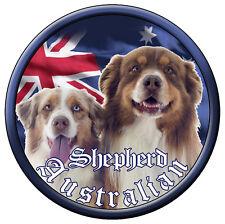 Australian Shepherd Vinyl Decal 90Mm By 90Mm Apr. Gloss Laminated