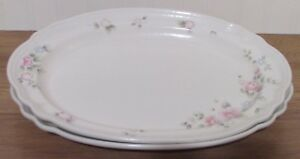 Pfaltzgraff-Tea-Rose-Platters-10-034-x-14-034-Set-of-2-Made-in-the-USA