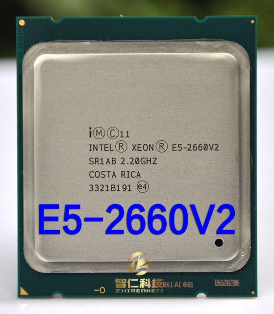 Intel Xeon E5 2660V2 2660 V2 2.2GHZ Ten Core CPU Processor LGA2011