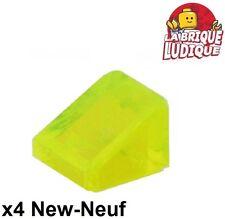 Lego - 4x slope brick brique pente 30 1 x 1 x 2/3 trans neon green 54200 NEUF