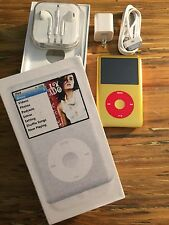 New 160gb Custom U2 iPod Classic 7thGen Gold/Gold 850mah Battery