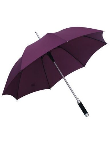 Regenschirm Automatik Regenschirm lila Stockschirm Schirm Aluminium Griff NEU